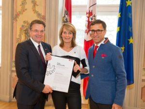 In 2014 ontving ik de Tourismusadler in Innsbruck.